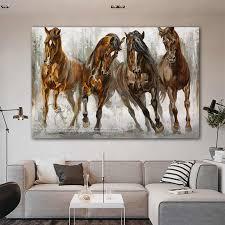reliabli kunst aquarell pferd bild tier leinwand malerei