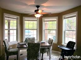 Bay Window Curtain Rod Dining Room In Need Of Curtains Pole Ceiling Mounted