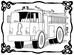Fire Truck Coloring Page Actual Picture | Free Black And White Fire ...