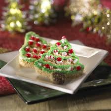 Rice Krispie Christmas Tree Pops by Trimmed Christmas Tree Treats Rice Krispies