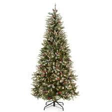 Fiber Optic Christmas Tree Walmart Canada by Snowy Dunhill Slim Pre Lit Christmas Tree Hayneedle