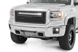30in Single Row LED Light Bar Hidden Grille Kit For 14-18 Chevrolet ...