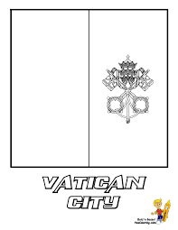 Vatican City Flag Coloring Page You Have All 195 International Flags To Color