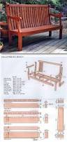 cedar bench plans outdoor furniture plans and projects