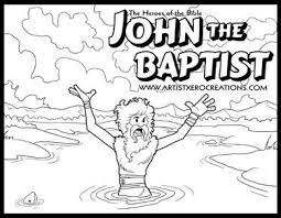 The Heroes Of Bible Coloring Pages John Baptist Matthew Mark Luke