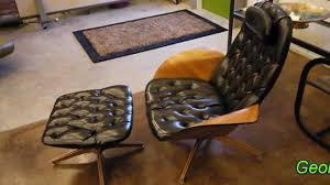 George Mulhauser For Plycraft Chair & Ottoman - YouTube Iconic Midcentury Lounge Chairs Vintage Industrial Style Plycraft Lounge Chair Overloginfo Plycraft Chair George Mulhauser Mid Century Modern Tufted Randy Leather And Hide 187 Orge Mulhauser Mr Ottoman American For By A Rejuvenating Aymerick Bookyume Ottoman Youtube