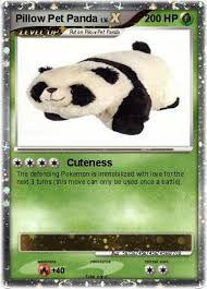 Pokémon Pillow Pet Panda Cuteness My Pokemon Card