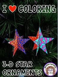 Celebrate The Holidays With These Fun 3 D Star Ornaments Your Students Can Color
