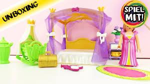 playmobil princess himmlisches schlafzimmer 6851 zimmer mit himmelbett und babybett für königin