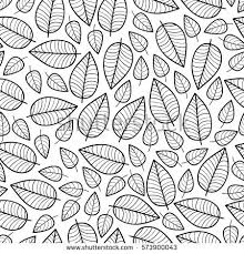 Cute Vector Leaf Seamless Pattern Abstract Print With Leaves Elegant Beautiful Nature Ornament For