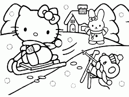 Hello Kitty Coloring Pages 12