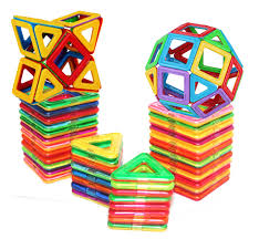Picasso Magnetic Tiles 100 by Magnet Building Toys 40 Piece Magnetic Blocks Building Toys