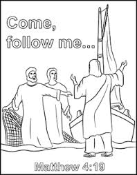 Coloring Page Jesus Called Peter And His Brother Andrew Saying Come Follow Me I Will Make You Fishers Of Men