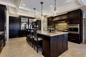 kitchen dark cabinets hardwood floor inspiring home design
