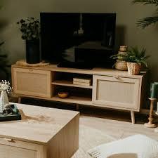 lowboard tv board tv schrank bali sonoma eiche rafia