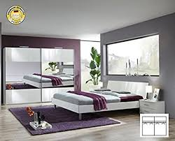 komplett schlafzimmer 2190 alpinweiß spiegel
