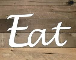 Eat Sign Metal Wall Art Kitchen Decor Dining Room