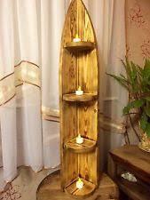 Chunky Wooden Rustic Vintage HANDMADE CORNER SHELF UNIT Floor Standing