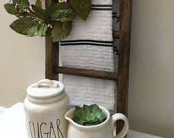 Mini Ladder Farmhouse Decor Kitchen Bathroom Rustic