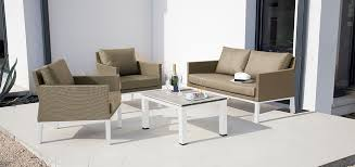 canapé de jardin 2 places salon de jardin 2 places tulum blanc gris achetez nos salons de