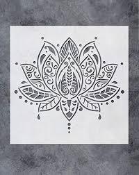 gss designs lotusblumen mandala wandschablone 30 5 x 30 5 cm studio boho schlafzimmer malschablonen für holz wand möbel bodenfliesen