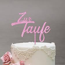 dankeskarte cake topper zur taufe zweizeilig für die tauftorte rosa glitzer xl tortenaufsatz kuchen tortendeko tortenstecker