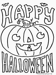 Happy Halloween Printable Pumpkin Faces Coloring Pages
