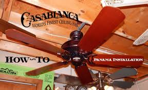 how to install a ceiling fan casablanca d model panama youtube