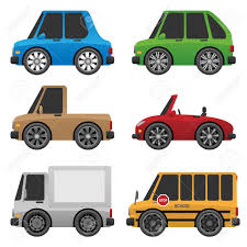 100 Toy Cars And Trucks Set Of Cute Icon Illustration Royalty Free Cliparts