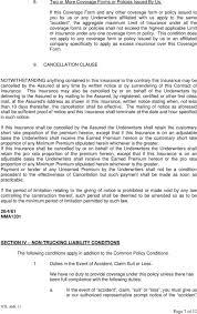 99 Non Trucking Liability Insurance NONTRUCKING LIABILITY COVERAGE FORM PDF