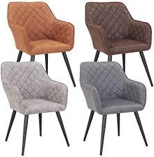 duhome esszimmerstuhl aus stoff samt farbauswahl retro design armlehnstuhl stuhl mit rückenlehne sessel metallbeine 8058 farbe dunkelgrau