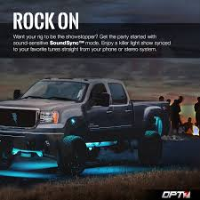 OPT7 AURA Rock Lights 4pc Multicolor LED Pods For Trucks, Jeeps, SUV ... Moose852 Truck Big Blue 8in On37s Cold Air 4in Straight Pipe Turbo Lvadosierracom Led Underglow Exterior Page 3 Opt7 Aura Allcolor Trucksuv Lighting Kit W Remote Blue Suppliers And Manufacturers At The Worlds Newest Photos Of Underglow Flickr Hive Mind Commercial Decorative Fresh Truck Led Lights Amazoncom Red Premium 18pcs Car Interior Three Mode Trick Out Your Rc Ledglow Underbody Kits Golf Cart Underglow Light 8pcsset Rgb Rock Set With Bluetooth Controller Jeep