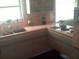 Everything In This Kitchen Looks Original 50s From The Counters To Cupboards Appliances And Tile Work Occupants Descripton