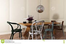 Dining Room With Wood Table And Mismatched Chairs Stock ... Mismatched Ding Chairs Mismatched Chairs A Ding Arrangement Of Personal Style The Story Of My Stacy Risenmay 85 Best Room Decorating Ideas Country Decor Gallery Interior Inspiration For Dc Metro Contemporary White Dorable Mix Tables Chairsgood And Table Design 5 Tips To Pulling Off Dning Chair Trend Folding Image Photo Free Trial Bigstock