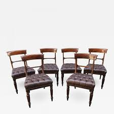 19th Century Set Of Six Philadelphia/Baltimore Mahogany Tufted ... Antique Set 10 Victorian Mahogany Balloon Back Ding Chairs 19th Of Six Century French Louis Xvi Cane Dutch Marquetry Inlaid Of 6 Legacy 12 Ft Flame Table 14 Chairs Room In Stock Photos Chairsgothic Chairsding Chairsfrench Fniture Single 2 Arm Late Hepplewhite Style Camelback 18th Walnut Chair With Queen Anne Legs English Cira 4 Turn The Century Ding In Wallasey Merseyside Gumtree 9776 Early Regency Vinterior