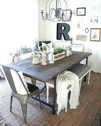 Farmhouse Dining Table Room Rustic Decor Regarding