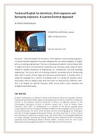 100 English Architects PDF TECHNICAL ENGLISH FOR ARCHITECTS CIVIL ENGINEERS AND SURVEYING