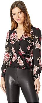 Colista Printed Faux Wrap Top Cupcakes And Cashmere