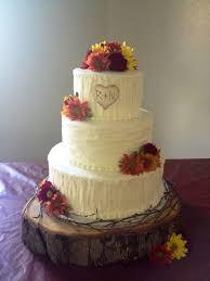 Rustic Wedding Cake Made By Teresa Lynn Cakes LLC Just Purple Flowers