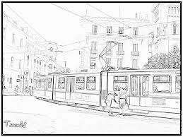 Coloriage Tramway à Imprimer Pour Les Enfants Dessin Tunisie Tunis