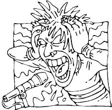 Screamo Singer Coloring Page