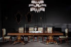 casa padrino luxus barock esszimmer set gold braun 1 esstisch 6 esszimmerstühle edle esszimmer möbel im barockstil