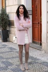 24 Gentle Light Pink Coat Outfits