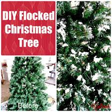 Cultivate Create Dare To DIY Flocked Christmas Tree