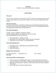 Bartender Resume Sample Scheme Of Skills