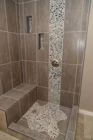 Spruce Up Your Shower By Adding Pebble Tile Accents! Click The Pin ... Bath Shower Bathroom Tile Gallery With Stylish Effects Villa 44 Best Ideas And Designs For 2019 Floor Tiles For Living Room Guest White 30 Design Backsplash 50 Cool And Eyecatchy Digs Corner Featured Mosaic How To Install In A Howtos Diy These 20 Will Have You Planning Your Redo Installation Contractor Cincotti Billerica Ma School Vs Glass The Which One Fireclay 25 Beautiful Niches Products Designed