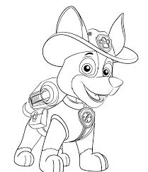 Paw Patrol Coloring Pages Tracker New Pup Page Pinterest