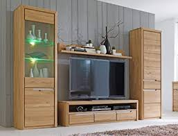 wohnwand pisa 31 eiche bianco massiv 4 teilig medienwand tv