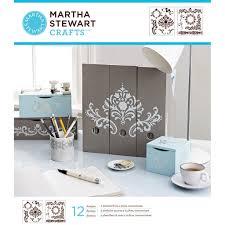 Michaels Art Desk Instructions by Martha Stewart Crafts Laser Cut Stencils Flourish