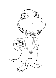 Dinosaur Train Coloring Page For Kids Printable Free Buddy